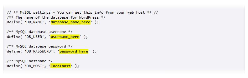 WordPress wp-config